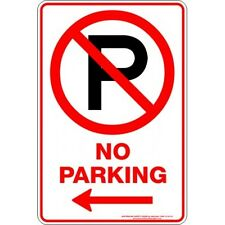 Safety Sign - NO PARKING P ARROW LEFT