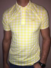 LACOSTE CLASSIC FIT PIQUE POLO SHIRT YELLOW NWT S M L