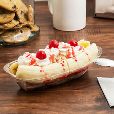 12 oz. Clear Plastic Banana Split Boat