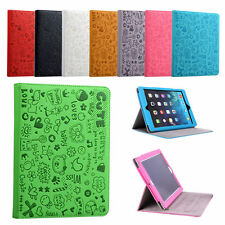 For Apple iPad 2 3 4 5 Air Mini Flip Cartoon Pattern Case Cover Stand Leather