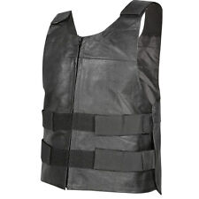 Xelement Men's Bulletproof Style Tactical Street Cowhide Leather Vest