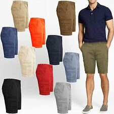 Mens Casual Summer Cargo Combat Chino Shorts Knee Length Pants Cotton Size 32-46