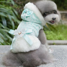 Lace Bow Pet Jacket With Hood