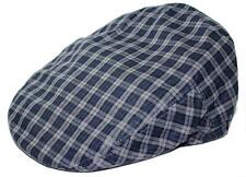 Men's Plaid Golf Summer flat Ivy Driving Cabbie Newsboy Cap Hat Navy