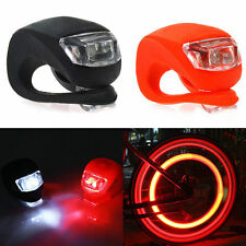 Silicone Bicycle Cycling Head Front Rear Wheel LED Flash Light Warning Lamp Hot