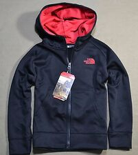 NWT BOYS THE NORTH FACE SURGENT BLACK FULL ZIP HOODIE JACKET SZ XXS (5) XS (6)