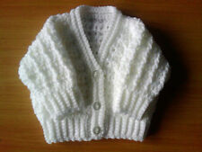 Handmade Crocheted Unisex Baby Cable Cardigan 100% Acrylic various colours.