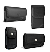 Pouch for Samsung Galaxy A7 (2017) or A8 (2016) phone with a protective case on