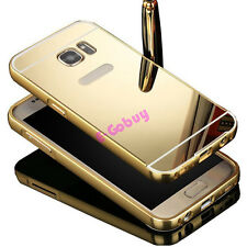 Luxury Mirror Back Cover & Metal Bumper Case For Samsung Phone Accessories