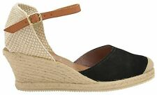 RAVEL Espadrille Heel High Wedge Real Suede Leather Ladies Summer Sandals