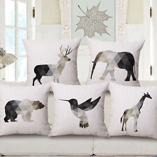 "Simple Elk Square Throw Sofa Bed Waist Decor Pillow Case Cushion Cover 18""*18"""