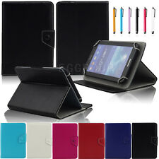 "Universal Flip Leather Stand Case Cover For 7"" 7 Inch Android Tablet Crazy-Horse"