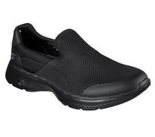 SKECHERS GO WALK 4 BLACK MENS SLIP ON COMFORT WALKING SHOES SHOES ALL SIZES