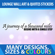 Wall Stickers Quotes Decal Vinyl Lounge Home -  A Journey Of A Thousand Miles