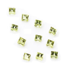 Light Green Natural Chinese Peridot AA Quality 2mm Faceted Square Loose gemstone