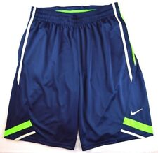 Nike 2469 Athletic Basketball Gym Mens Dri-Fit Dunk Shorts Navy Lime Green Gray