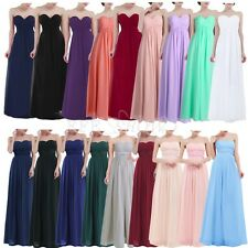 Women's Long Chiffon Formal Party Ball Gown Prom Wedding Prom Bridesmaid Dress
