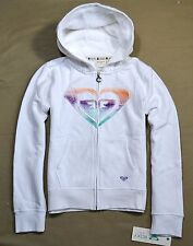 NWT GIRLS YOUTH ROXY QUICKSILVER SEA SALT HOODIE FULL ZIP JACKET SZ M 12-14