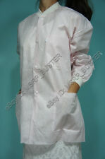 20 Hip Length Pink SMS Three-Layer Disposable Lab Coats Gowns Dental Medical
