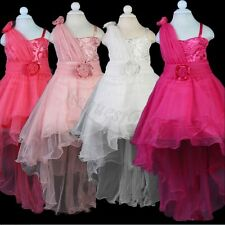 Kid Baby Sequins Tailing Communion Party Princess Prom Wedding Flower Girl Dress