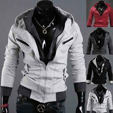 Sexy Slim Fit Men Top Designed Hooded Hoodies Jackets Coats 4color 4sizes 2017