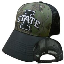 Iowa State Cyclones NCAA Camouflage Curved Bill Mesh Snapback Hat Cap