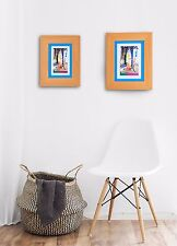 Natural Wooden Picture Frame Photo Mat GLASS Display Wall Hang Table Easel Back