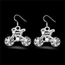 1Pair Jewelry Women New Earring Gift Bike Earring Crystal Bicycle Design