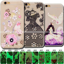 Soft TPU Back Rubber Fluorescence Skin Transparent Case Cover For Apple iPhone 7