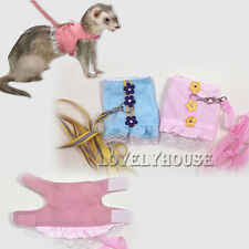 Harness for Ferret Guinea pig Baby Rabbit Lead Leash Walk Harness with Lead