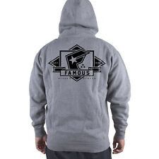 NWT Famous Stars & Straps MAJOR ZIP Hoodie GREY LARGE-XLARGE LIMITED RELEASE