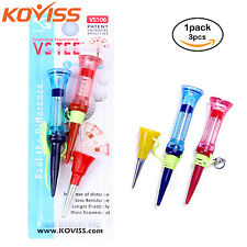 KOVISS Flexible Original Spring VS GOLF Ball Tees 76, 68, 39mm 3pcs set VS106