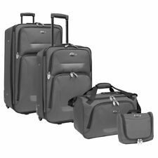 Travelers Choice US Traveler Westport 4 Piece Expandable Rolling Luggage Set,