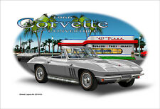 1966 Corvette Convertible 427 Car Art Print - 5 colors