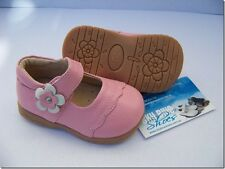Girls Pink Leather Shoes for Toddler Kids Children for age 1 - 6 years approx