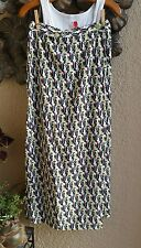 FLAX Rayon BUTTON WRAP Skirt Beach Coverup GREEN DECO - Petite and Small - NEW