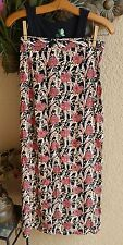 FLAX Rayon BUTTON WRAP Skirt Beach Coverup BLACK SWEET PEA - P, S, M, L - NEW
