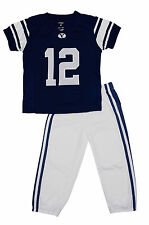 BYU Cougars Toddler Two Piece Football Uniform Pajama Set (Navy)