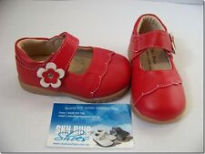 Girls Red Leather Shoes for Toddler Kids Children for age 1 - 6 years approx