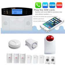 GSM Anti-Theft Detector Warning Home Security Alarm System LCD Auto Dialer VP