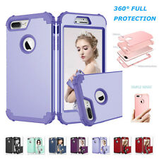360° Full Protection Shockproof Soft Case Hard Cover For Apple iPhone 7 6S Plus
