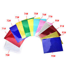 4PCS 10cm X 20cm Holographic Adhesive Film Flash Tape For Lure Making Fly ~L