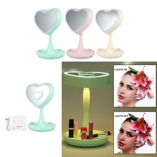 Makeup Mirror Tabletop Cosmetic Vanity Light up Mirror Colorful 3X Magnifier JS