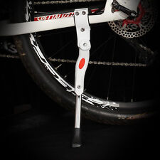 White Bike Bicycle Adjustable Side Kickstand Prop Kick Stand Rubber Foot