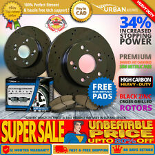 HeavyDuty Front Rotors S Pads BlckZinc Drill 10 for Nissan Pathfinder 4WD V6