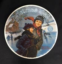 """>Ltd Ed Collector Plate NORMAN ROCKWELL """"Christmas Courtship"""" 1982 w/Cer KNOWLES"""