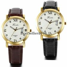 Military Army Mens Date Leather Band Sport Calendar Quartz Analog Wrist Watch