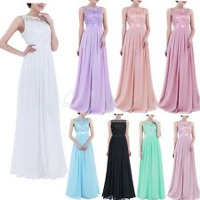 Women Embroidered Formal Long Evening Party Ball Maxi Dresses Prom Gown Cocktail