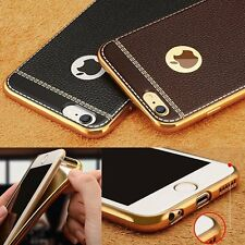 Luxury Electroplate Clemence PU Leather Case Cover For iPhone 5 5S 6 6S 7 Plus
