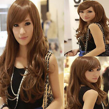 New Fashion Womens Girls Sexy Cosplay Party Full Long Curly Wavy Wigs Hair Gift